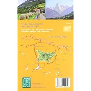 Parque Naciobal de Picos de Europa, mapa excursionista. Escala 1:40.000. Español, Français, English. Alpina Editorial.