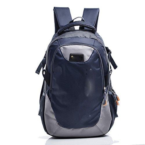 Freizeit Outdoor Sporttasche Bergsteigen Rucksack Große Kapazität Wandertasche,Green DarkBlue