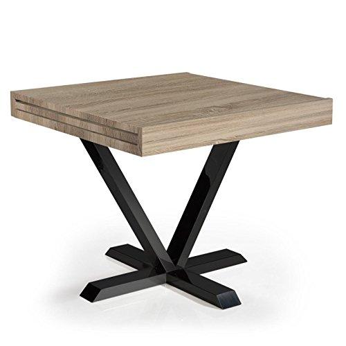 Paris Prix - Table D'appoint Extensible Shoreditch 90-180cm Chêne Clair