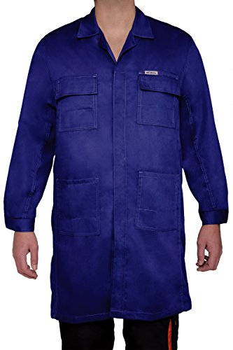 ART.MAS Arbeitskittel, Kittel, Herrenkittel, Herrenmantel, Arbeitsmantel, Apron, grau, 250g/m2 (L, Navy-blau)