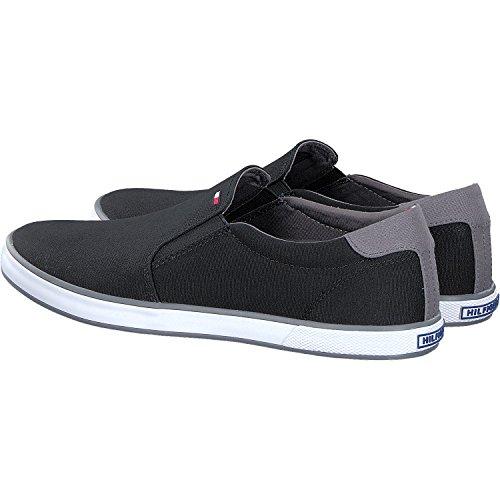 Tommy Hilfiger H2285arlow 2D, Sneaker Basses Homme Noir