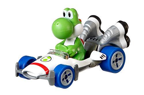 Hot Wheels GBG29 - Mario Kart Replica 1:64 Die-Cast Yoshi