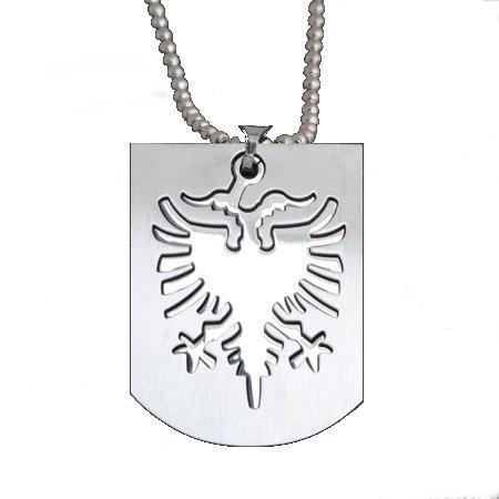 ALBANIEN Kette - aus Edelstahl | Albanische Kette | Shqiptar | Halskette | Kosovo | Dog-Tag | Anhänger | Adler | Stolz | Fanartikel | Fußball | Armband | Albaner | WM | EM