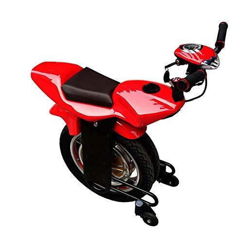 PAUL&F Elektrischer Einrad-Roller, intelligente Induktion, einrädriges Motorrad, volle Leistung, 45 km, Höchstgeschwindigkeit 25 km/h, Smart Reise-Werkzeuge für Junge Menschen, Rot