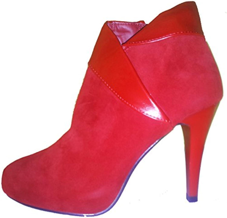 3-W-HohenlimburgElegante Stiletto Pumps High Heels Heels Heels stivali in rosso Oder Tief - blu mit Reißverschluß in Extravaganter...   Meraviglioso  d6860f