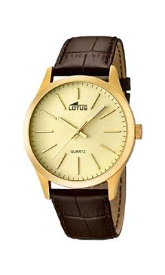 Lotus 15962/2 - Reloj de cuarzo para hombre, con correa de cuero, color marrón