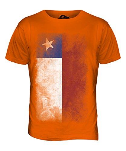 CandyMix Chile Verblichen Flagge Herren T Shirt Orange