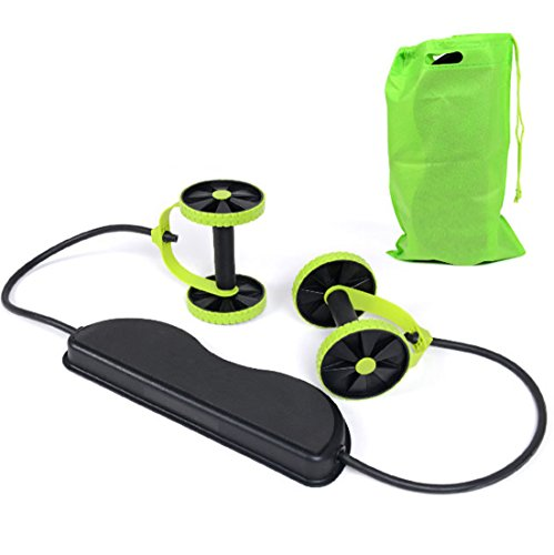 suyi Sport Core Double AB Power Power Roller ab Roller ab Wheel Fitness Abdominal Exercises Equipment Coaster Pull Roda Waist Slimming Trainer