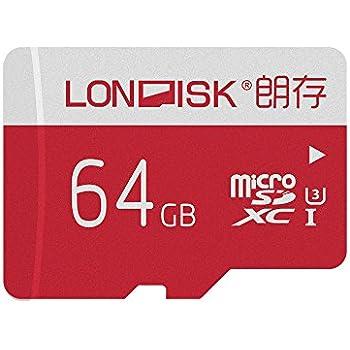 LONDISK 4K 64GB Tarjeta Micro SD Tarjetas de Memoria Clase 10 5 Pack Pack 64 para GoPro Hero versión con Adaptador de Tarjeta SD 10 años garantía (U3 ...