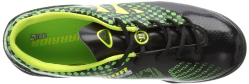 Warrior Gambler Combat Junior Turf, Chaussures de Football garçon Black/Jazz Green