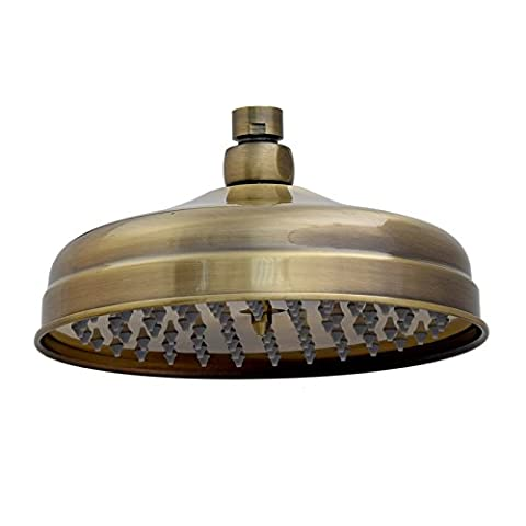 ENKI Large Fixed Shower Head Solid Brass Antique Bronze Round Traditional