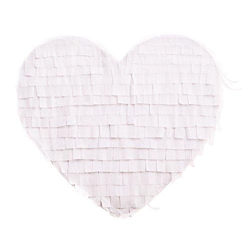 Pinata Herz Weiß - 2
