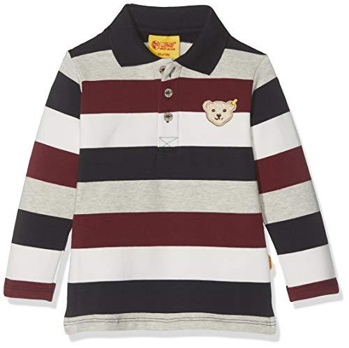Steiff Baby-Jungen Poloshirt Langarm Langarmshirt, Blau (Burgundy 2761), 86 (Herstellergröße: 086)