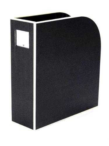 Semikolon (352736) Stehsammler A4 black (schwarz) | Zeitschriften-Sammler und Dokumenten-Ordner | Für A4 | Format: 10,5 × 26,0 × 31,0 cm