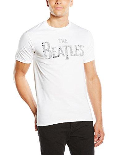 The Beatles Herren T-Shirt Drop T Tickets, Gr. Small, Weiß - Weiß (T-shirt Drop Herren)