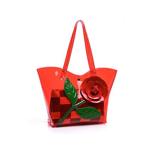 Taschen Handtaschen Damen Einfach Henkel Tasche Elegant wasserdichte Handtasche Kunstleder Schultertasche Farbe 5