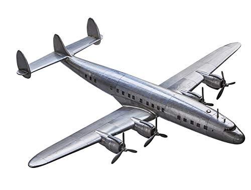 Authentic Models - Dekorationsobjekt - Flugzeug - Flugzeugmodell - Constellation - Aluminium -Maße (LxBxH): 69 x 75 x 13 cm