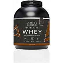 Marchio Amazon - Amfit Nutrition Performance Whey Mix di proteine del siero di latte (100% isolati di siero di latte), gusto cioccolato, 66 porzioni, 1980 g