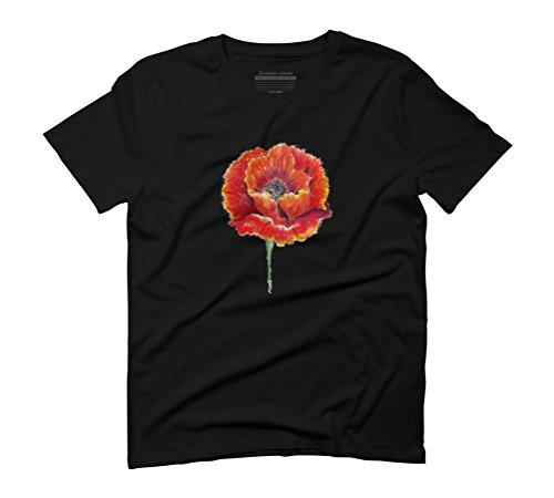 Poppy flower Men's Graphic T-Shirt - Design By Humans Black