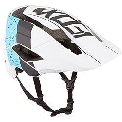 Fox hombre metah Kroma bicicleta casco, hombre, color azul y blanco, tamaño small/medium