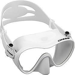 Cressi F1 Masque de plongée sans Cadre, Mixte, ZDN283000, Blanc, Taille Unique