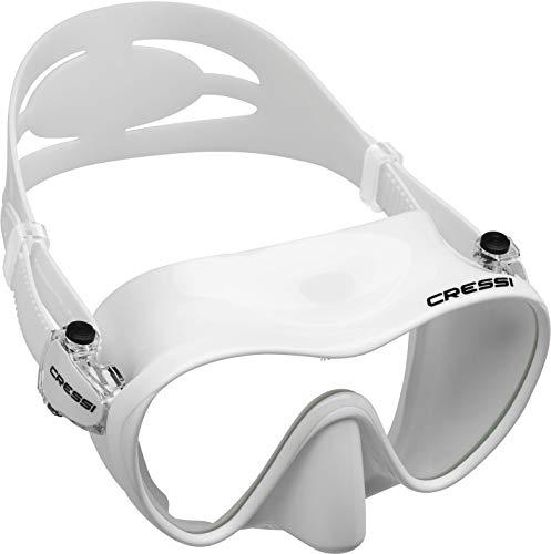 Cressi F1 Tauchmaske Schnorchelmaske Rahmenlos Qualität seit 1946, Unisex, ZDN283000, weiß, Einheitsgröße -
