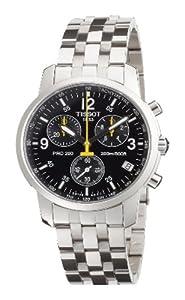 Reloj de caballero Tissot PRC 200 T1 de cuarzo, correa de acero inoxidable color plata de TISSOT