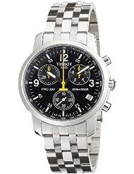 Tissot PRC 200 T1 - Reloj de caballero de cuarzo, correa de acero inoxidable color plata