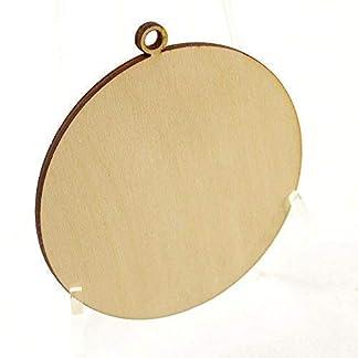 10 X Madera Bola de Navidad Formas, Simple Madera Manualidades Etiquetas 100mm (10cm) (Am )