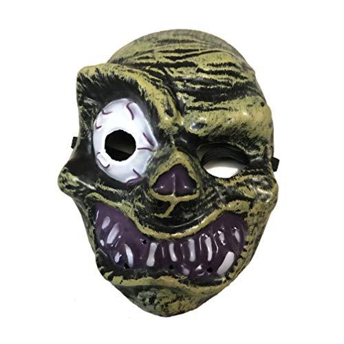 Amosfun Halloween Ghost Head Maske Dämon Zombie Maske Cosplay Kostüm beängstigend Horror Streich Requisiten liefert Kinder (Kostüm Kinder Beängstigend)