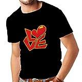 Männer T-Shirt Zitate und Sprüche über Liebe –Ich Liebe Dich Geschenke (XXXXX-Large Schwarz Mehrfarben)