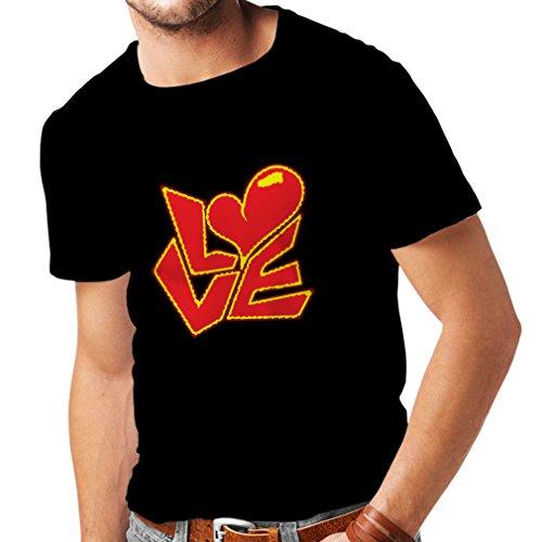 Männer T-Shirt Zitate und Sprüche über Liebe -Ich Liebe Dich Geschenke (XXXXX-Large Schwarz Mehrfarben)