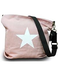 My de MustHave Italiana. SHOPPER Canvas Funda de estrellas con estrella cubierta de hombro Canvas Vintage