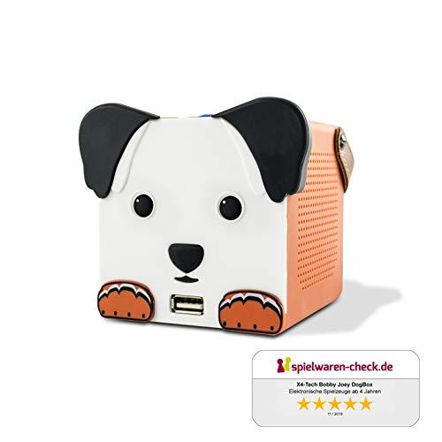X4-TECH Bobby Joey DogBox Bluetooth-Lautsprecher für Kinder inkl. USB-Netzteil - SD USB LED