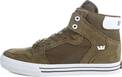 Supra Vaider, Sneaker Uomo Olive-white