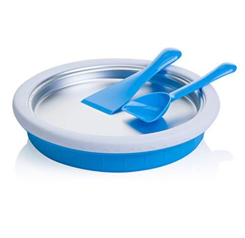 ELEGENCE-Z Mini Fried Ice Machine, Kleine Mini-Eismaschine Hausgemachtes Fruchteis Plug-in Gebratene Eiswürfelschale Blue -