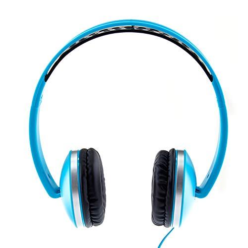 Envent Beatz 500 ET-HPM500 BL Wired Headphones with Mic (Blue)