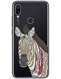Suhctup Compatible con OnePlus 8 Funda de Transparente Silicona con Dibujos Lindo Animados Animal Diseño Patrón Cárcasa Suave Flexible Ultrafina TPU Antigolpes Protección Caso, Cebra