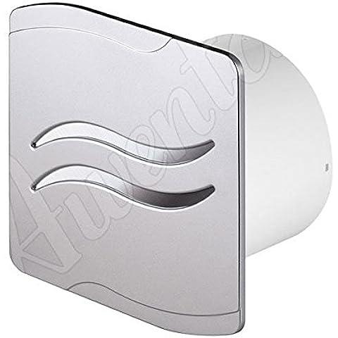 satén pared de la cocina baño extractor de humos de 100 mm de ventilación con temporizador