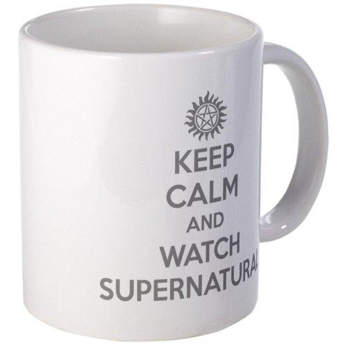 Cafepress-Keep Calm and Watch Supernatural mug-Tazza di caffè, 311,8gram tazze in tazza di caffè, tè unico