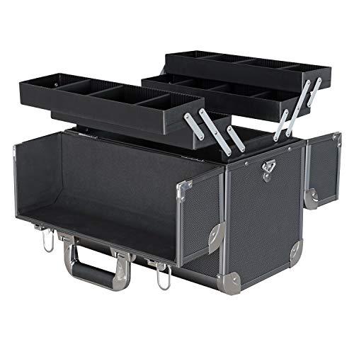 Hmf 14902-02 valigetta portautensili vuota, scatola da pesca in alluminio, pareti divisorie individuali, 36,5 x 35 x 22 cm