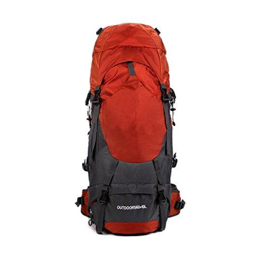 Ultra Leichte Reißen Und Wasserabweisende Nylon Handy Rucksack Tasche Wandern Dayback Taschen,Red Red