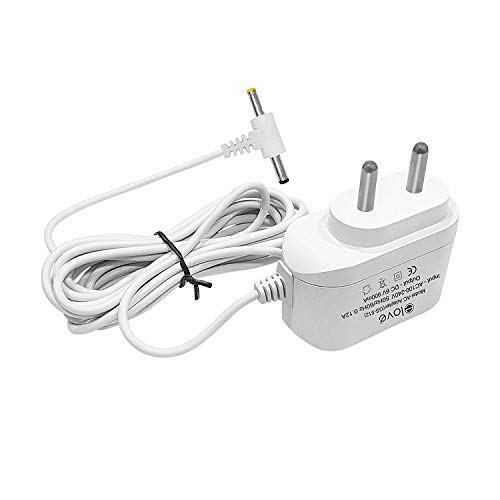 Elove 6V Ac/Dc Power Adapter For Blood Pressure Monitor With 10 Ft (3 Meter) Cord - White