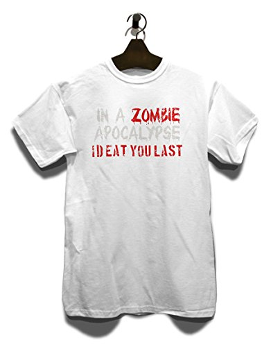 In A Zombie Apocalypse Id Eat You Last Vintage T-Shirt Weiß