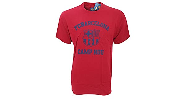 fabde8adf Buy Official FC Barcelona Camp Nou ~ Men s T-Shirt ~ Cardinal Red Online at Low  Prices in India - Amazon.in