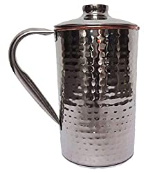 4orke Steel Copper Hammered Water jugs. Capicity-1500 ml