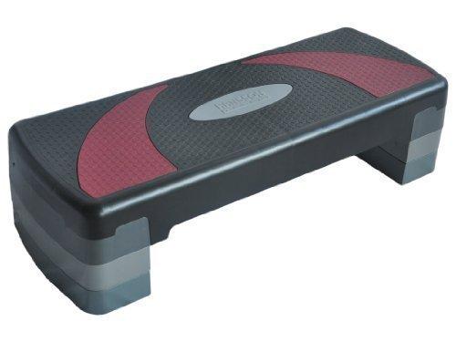 Hansson.Sports Fitness Aerobic Steppbrett RedHorn 80x30cm 3-fach-verstellbar