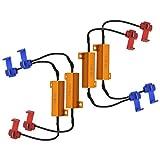 NGCAT, Lastwiderstände für LED-Leuchtmittel / Scheinwerfer / Nebelscheinwerfer / Decoder / Fast-Hyper-Flash-Blinker, 50 W, 8 Ohm, 4 Stück