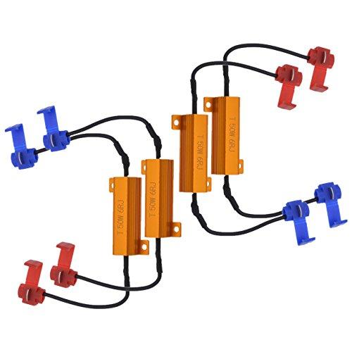 NGCAT 4 resistenze da 50W, 8Ohm, per lampadina LED, resistenze di carico per faro/fendinebbia/luci di segnalazione (sistemano l'iper lampeggiamento, cancellano le allerte)