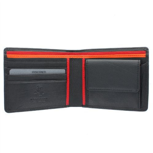 visconti-gents-leather-bond-collection-m-wallet-bd10-black-multi